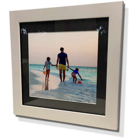 "13x13"" White Frame with Black Border (7x7"" Print)"