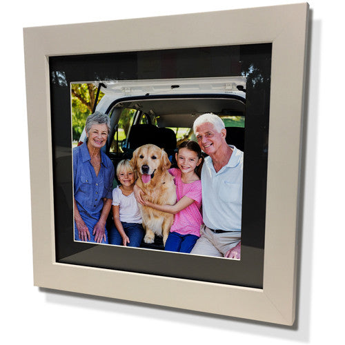 "15x15"" White Frame with Black Border (9x9"" Print)"