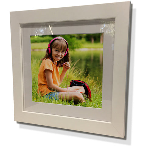 "15X15"" White Frame with White Border (9x9"" Print)"