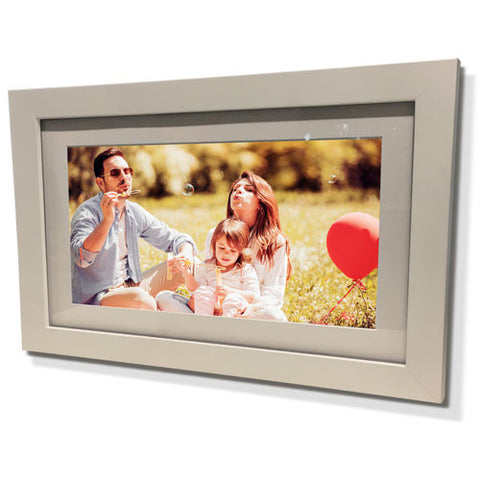"15x21"" White Frame with White Border (9x15"" Print)"
