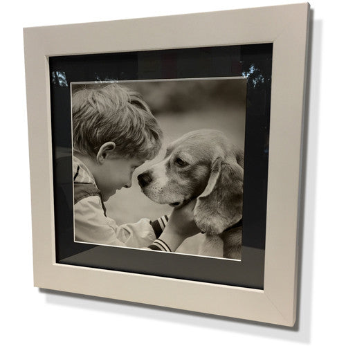"19x19"" White Frame with Black Border (12x12"" Print)"
