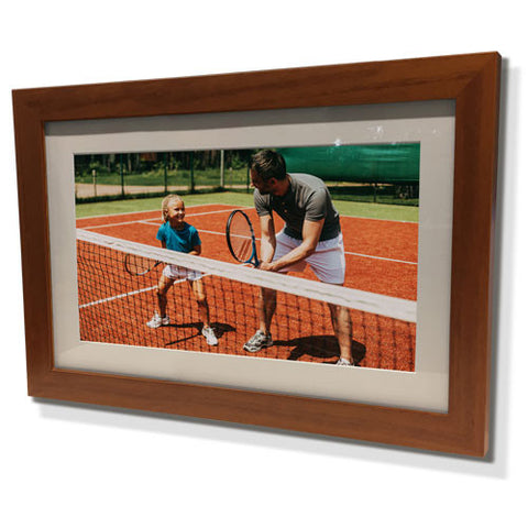 "19x23"" Brown Frame with White Border (12x17"" Print)"