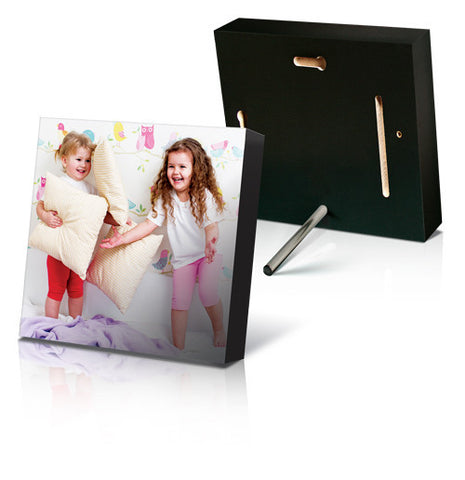 "8 x 8"" Black Photo Block - Square"