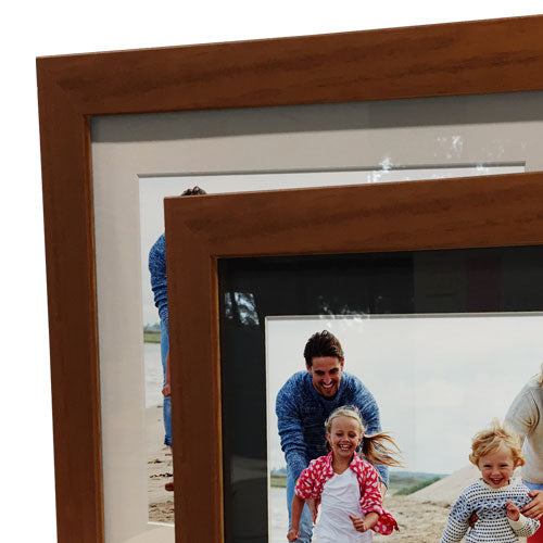 "24x28"" Brown Frame with White Border (15x19"" Print)"