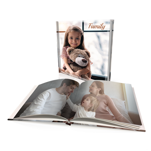 "12x12"" Premium Padded Personalised Hard Cover Book"