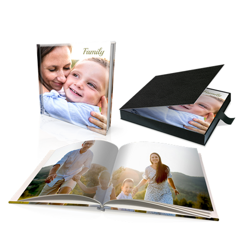 "12 x 12"" Premium Personalised Hard Cover Book in Presentation Box"