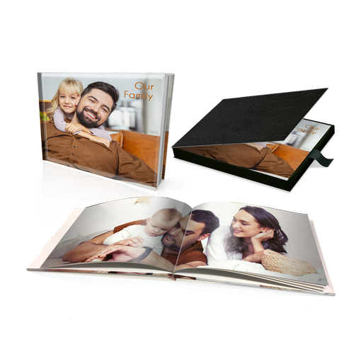 "12 x 16"" Premium Personalised Hard Cover Book in Presentation Box"