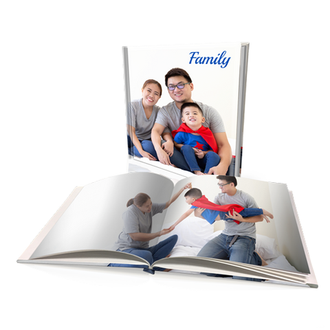 "8x8"" Premium Padded Personalised Hard Cover Book"