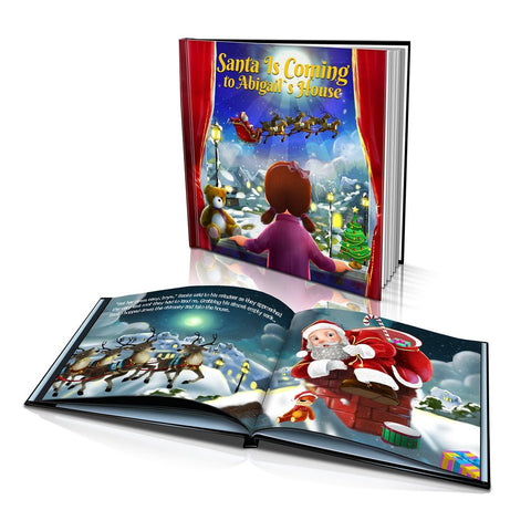Santa is Coming Large Hard Cover Story Book