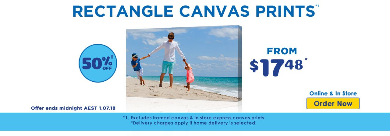 Home Square Canvas Prints offer - ends 3.06.18