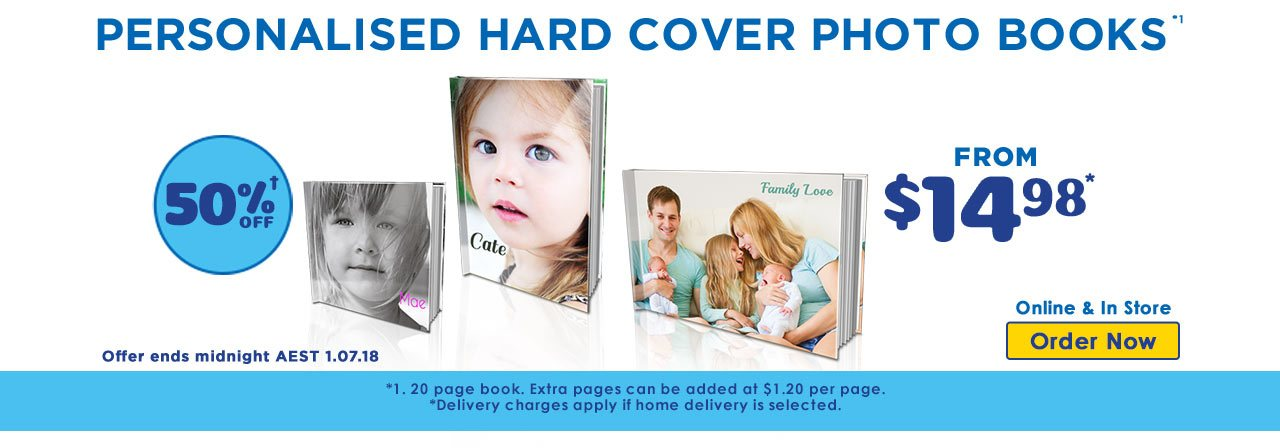 Home Personalised Soft Cover Photo Books offer - ends 3.06.18