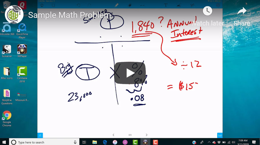Here is a Sample Math Problem - Personalized Attention for Global Real Estate School Students