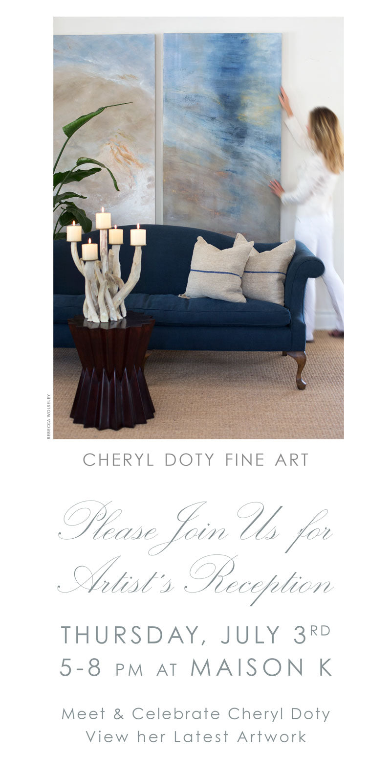 Please Join Us and Meet Cheryl Doty, Artist