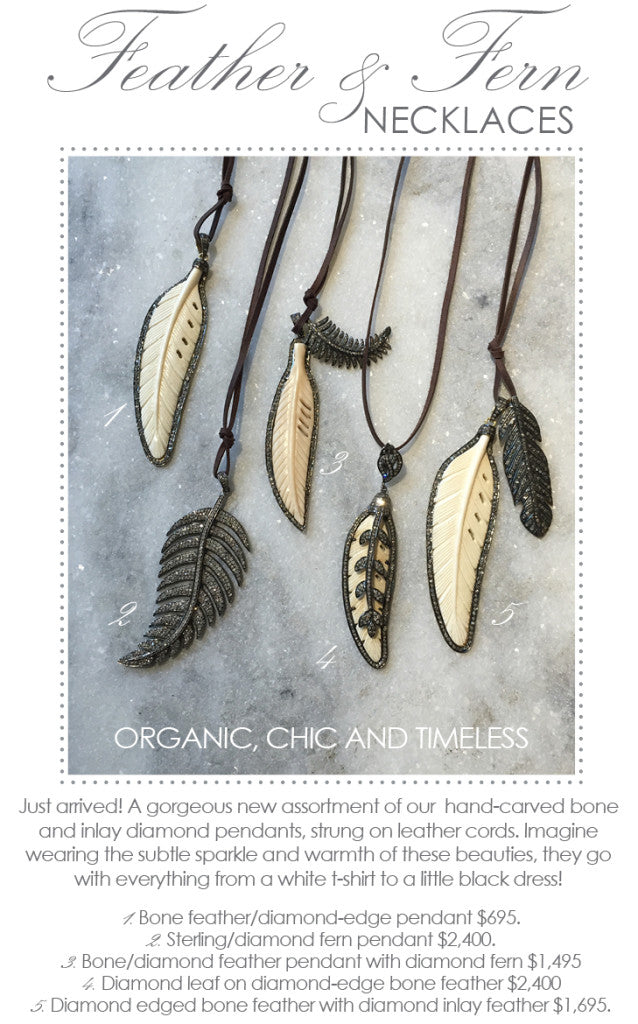 Feather And Fern Necklaces