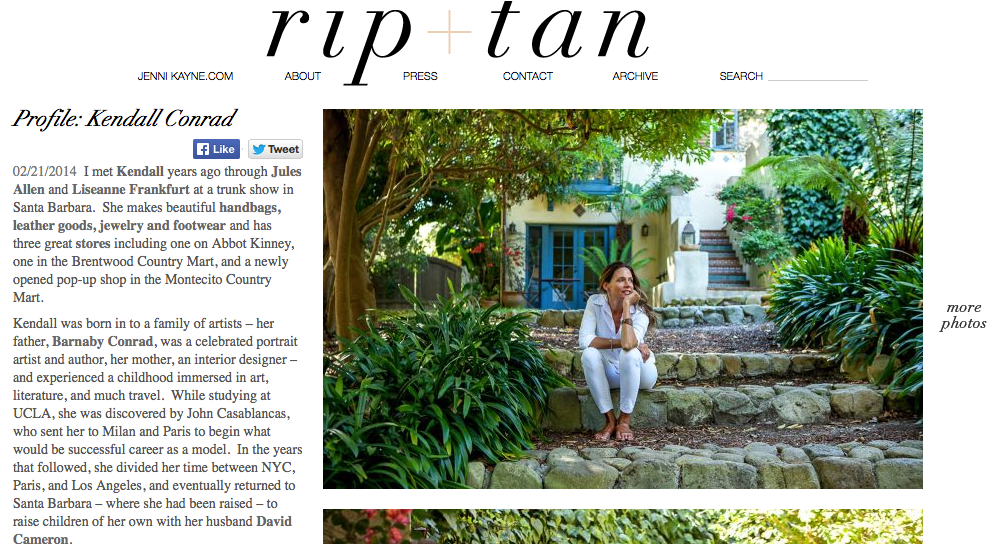 Rip + Tan – Kendall Conrad Profile & MAISON K mention