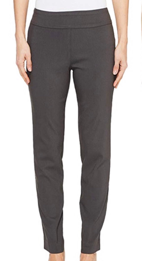 Dark Grey Pull On Ankle Pant