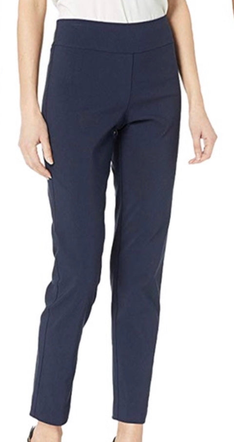 Navy Pull On Ankle Pant