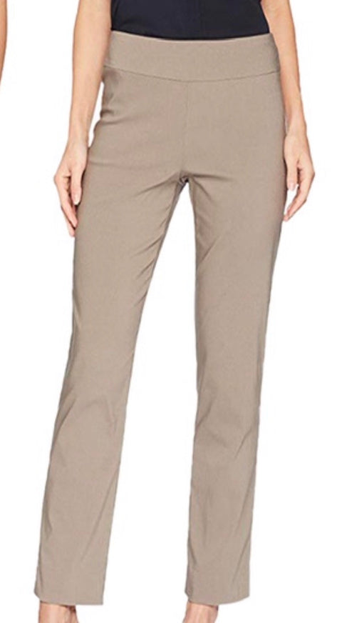 Taupe Pull On Ankle Pant