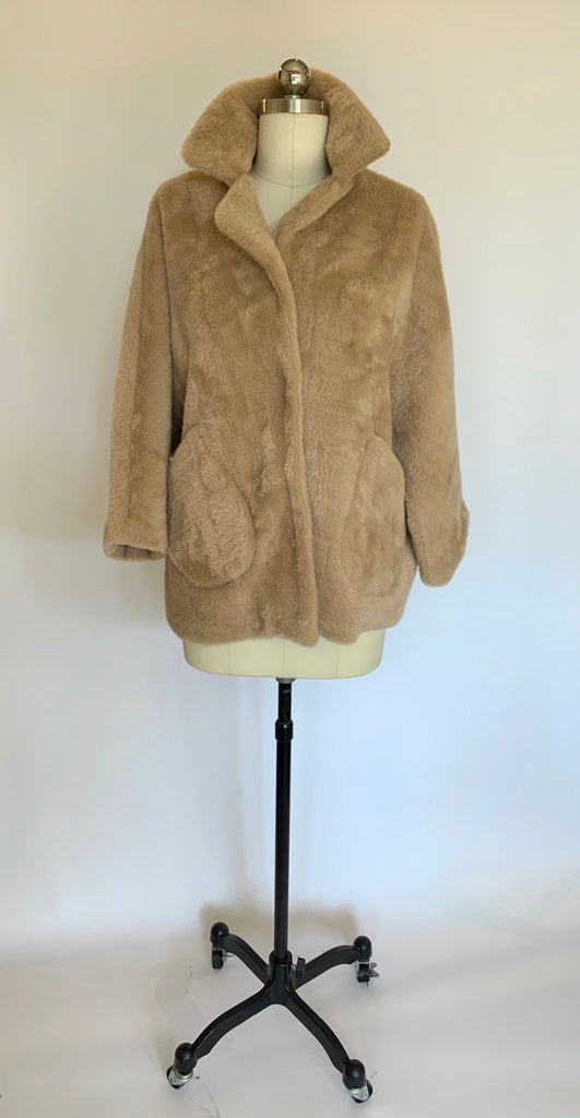 Pale Camel Faux Fur Jacket