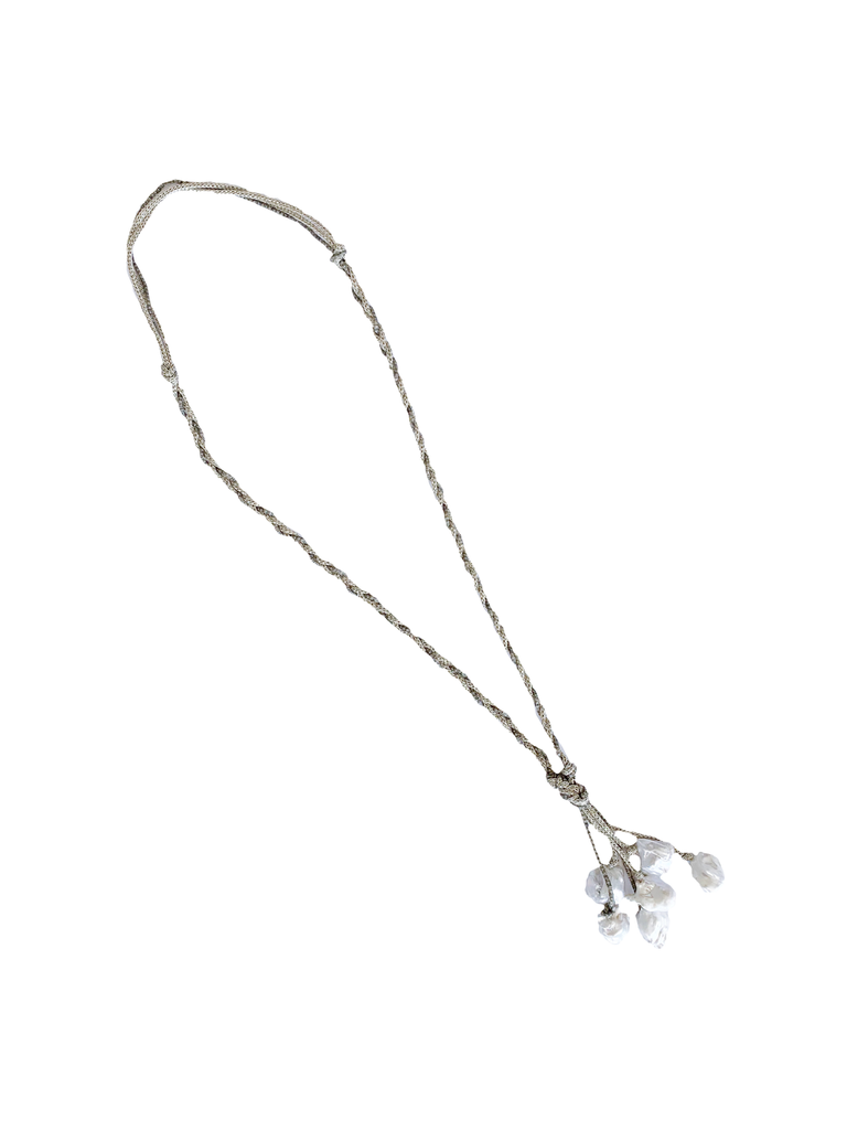 Boroque Pearl Cluster Necklace