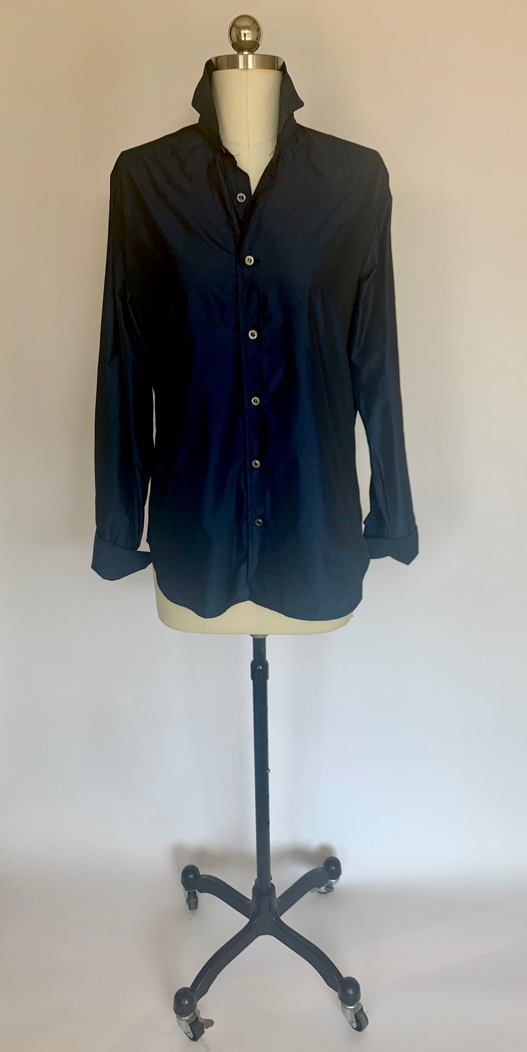 Taffeta Button Front Shirt