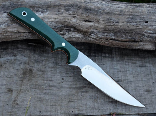 #117 Green Canvas Micarta Skinner