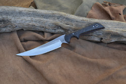 Black dyed silky oak wood, Medium clip point utility