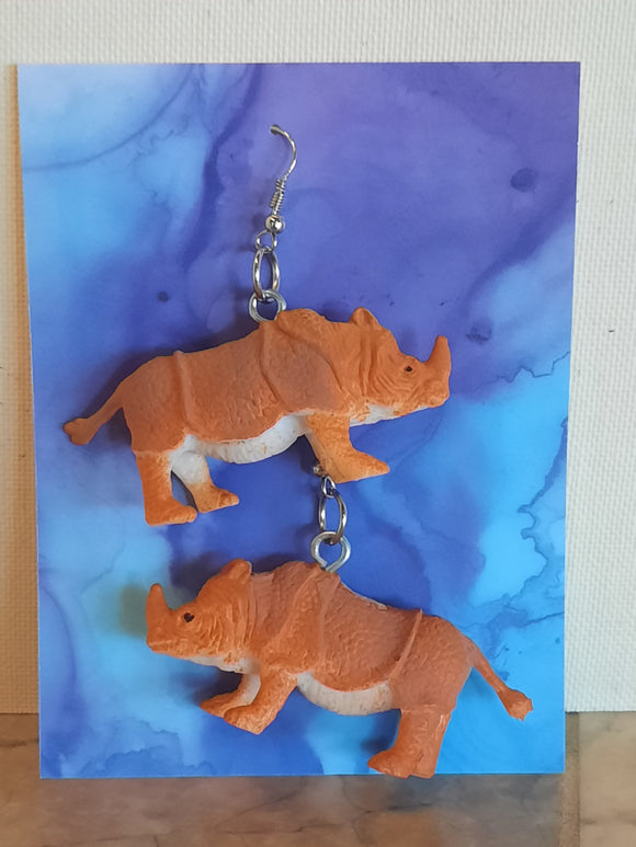 Rhino Earrings