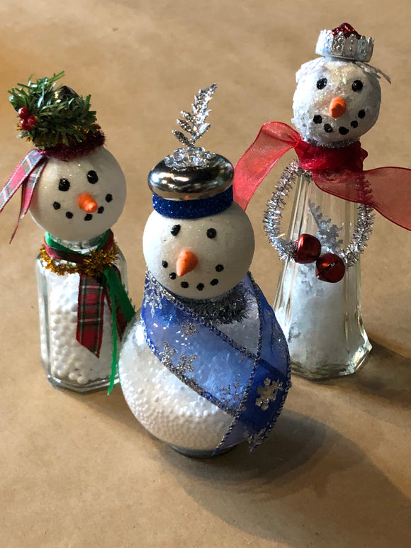 Shaker Snowmen -Holiday Decor Workshop