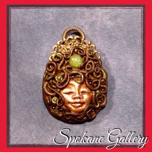 Earth Goddess Peridot Pendant