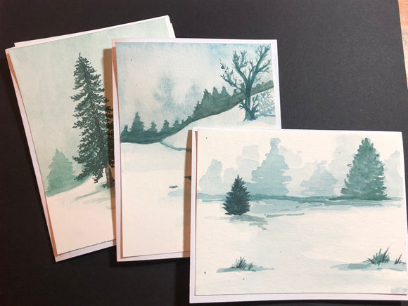 Card Technique Workshop- Winter Trees