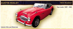 1957-1962 Austin Healy 100,6 and Roadster Front Seat Upholestery Kit - Vinyl