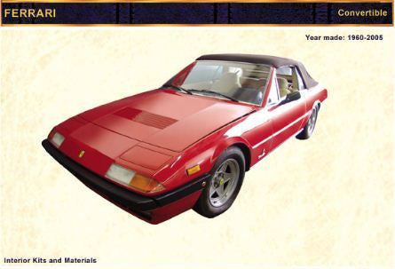 1960-2005 FERRARI Convertible Mondial Cab. Kit - Leather