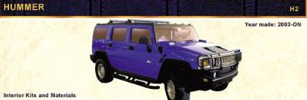 2003-ON HUMMER H2 Pair of Front Headrest Covers - Vinyl