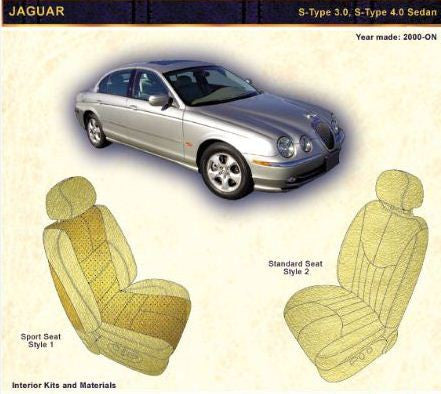 2000-ON JAGUAR S-Type 3.0, S-Type 4.0 and Sedan Pair of Front backrest Rear Panel Covers - Leather