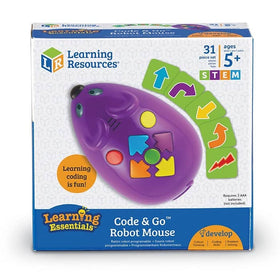 Toy- code and go programmable robot mouse box