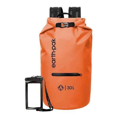 Camping and Fishing with Waterproof Phone Case Boating Earth Pak-Torrent Series Waterproof Dry Bag Keeps Gear Dry for Kayaking Hiking