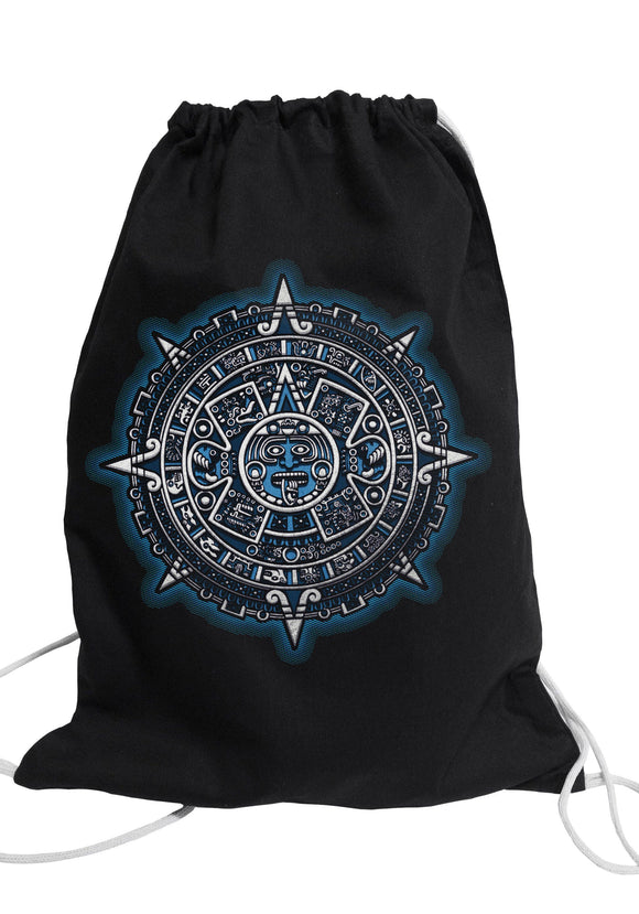 Graphic gym bag Bag Nahua Ollin Aztec Calendar/ red