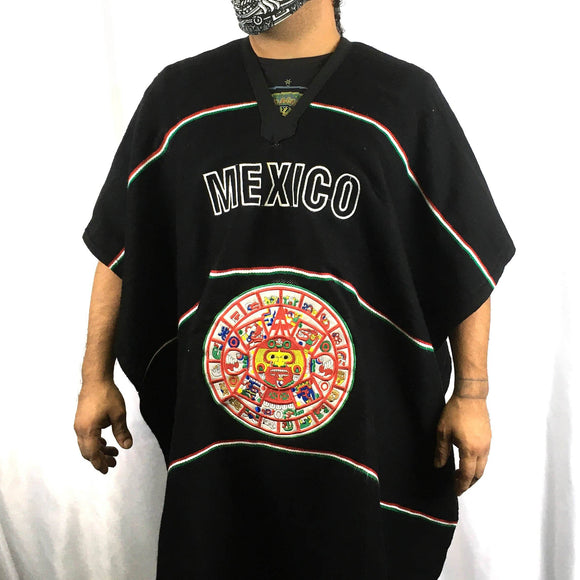Mexican Patriot Poncho Poncho Import Black Calendar