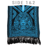 Double Calendar Poncho Poncho Pura Cultura Light Blue