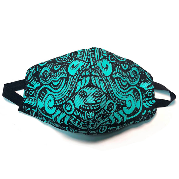 Protective Masks Pura Cultura Serpent / Turquoise