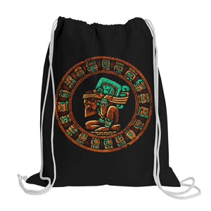 Graphic Gym Bag Bag Nahua Ollin Mayan Calendar Gym Bag/Black