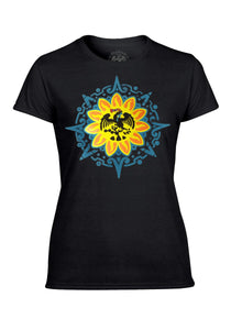 Mexica Women's Tee Nahua Ollin S Black