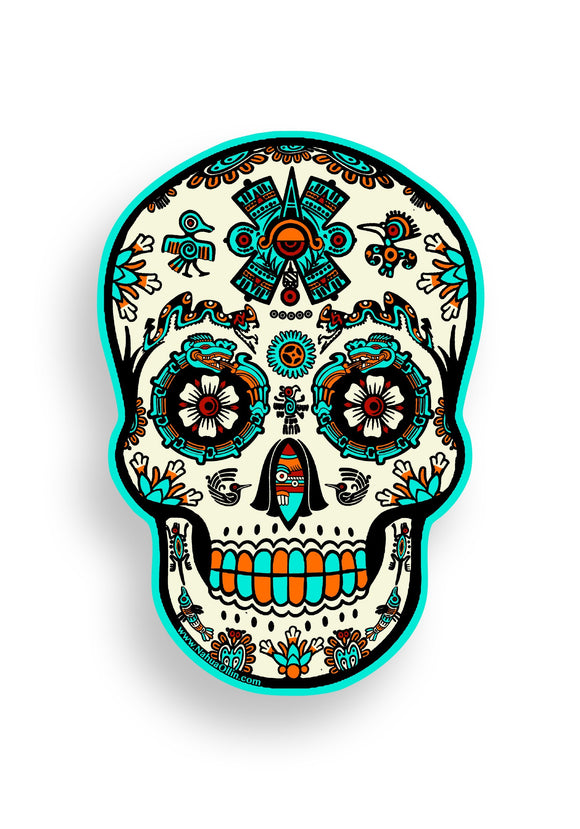 Skully Sticker Nahua Ollin