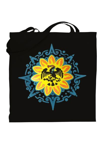 Graphic tote bag Bag Nahua Ollin Mexica/ black