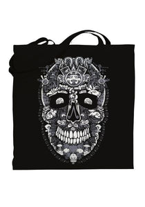 Graphic tote bag Bag Nahua Ollin Huitchol Skull