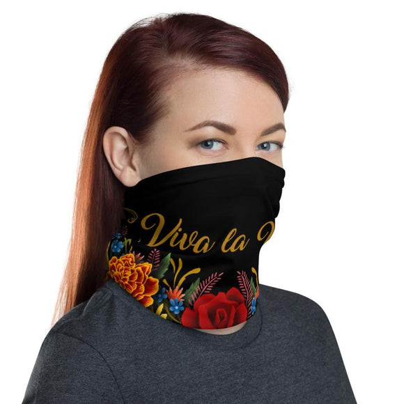 Mask Headband Two-in-One Pura Cultura Black Viva la Vida