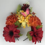 Flower Crown - Mexican Headpiece Headband - Day of the Dead, Dia de los Muertos Flower Crown Import 2