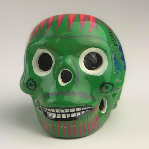 Decorated Skull Statue - Dia de los Muertos - Kiwi Sculpture Import