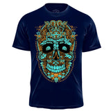Miquiztli Skull - Men's Graphic Tee NahuaOllin Navy S